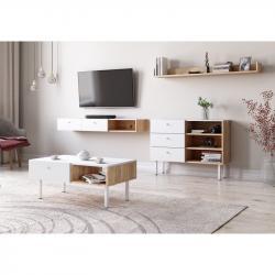 Hector Sada nábytku do obývacího pokoje Ulma dub artisan/bílá