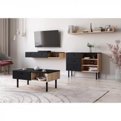 Hector Sada nábytku do obývacího pokoje Ulma dub artisan/černá