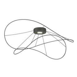 Axo Light Hoops 2, černé stropní designové svítidlo, 17,5W LED 3000K stmívatelné, prům. 100cm, výška 39cm