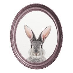 Oválný nástěnný obraz Really Nice Things Rabbit, 40 x 50 cm