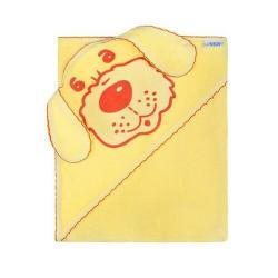 New Baby Osuška s kapuckou Pejsek žlutá, 100 x 100 cm