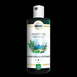 Topvet Masážní olej Alpská relaxační směs 200 ml