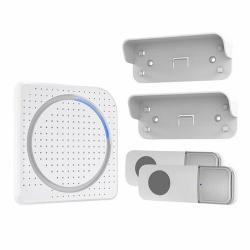 Solight bezdrátový zvonek, 2 tlačítka, do zásuvky, 200m, bílý, learning code