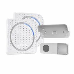 Solight 2x bezdrátový zvonek, do zásuvky, 200m, bílý, learning code