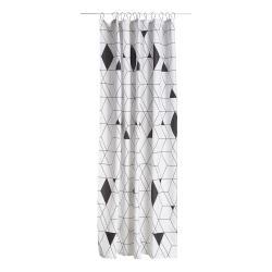 Sprchový závěs 180 x 200 cm black HARLEQUIN ZONE