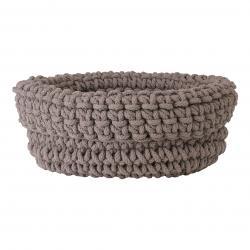 Pletený bavlněný koš COBO taupe