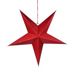 LATERNA MAGICA Papírová dekorační hvězda 60 cm - červená