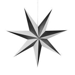 LATERNA MAGICA Papírová dekorační hvězda 60 cm - černá/bílá