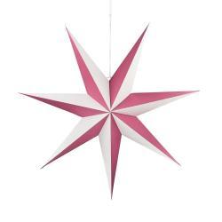 LATERNA MAGICA Papírová dekorační hvězda 60 cm - malinová