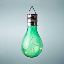 SUNLIGHT Solární žárovka k zavěšení - zelená