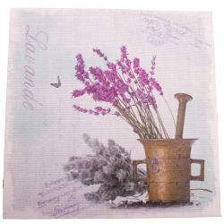 Obraz na plátně Levandule v hmoždíři, 28 x 28 cm