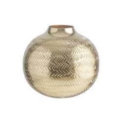 BALI Kovová baňatá váza 20 cm