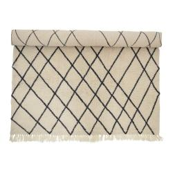 Bílý vlněný koberec Bloomingville Geo, 200 x 300 cm
