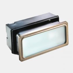 Il Fanale 247.25.AO Marina venkovní mosazné zápustné svítidlo do zdi, 1x E27 max 46W, 24 x 10,5cm