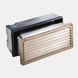 Il Fanale 247.26.AO Marina venkovní mosazné zápustné svítidlo do zdi s mřížkou, 1x E27 max 46W, 24 x 10,5cm