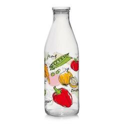 Skleněná láhev s víčkem ZELENINA 1 l, 6 ks