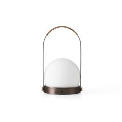 MENU Menu Carrie LED stolní lampa dobíjecí bronz/kůže