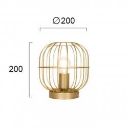 Viokef Stolní lampa Zenith ve tvaru klece, zlaté