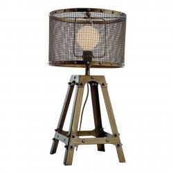 Viokef Stolní lampa Afelio z oceli, hnědá