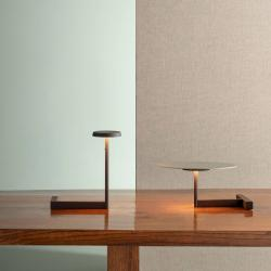 Vibia Vibia Flat LED stolní lampa výška 16 cm šedá L1