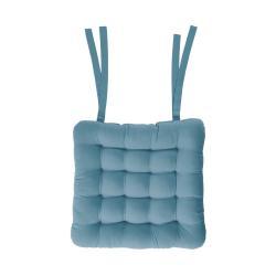 SOLID Podsedák se šňůrkami 32 x 32 cm - modrá