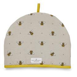 Béžovo-žlutý bavlněný poklop na čajovou konvici Cooksmart ® Bumble Bees