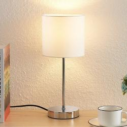 Lindby Lindby Leokadia stolní lampa, chrom bílá