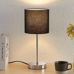 Lindby Lindby Leokadia stolní lampa, chrom černá