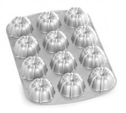 Forma na 12 báboviček Brownie Bundt® stříbrná