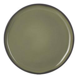Snídaňový talíř khaki Cardamon CARACTERE REVOL