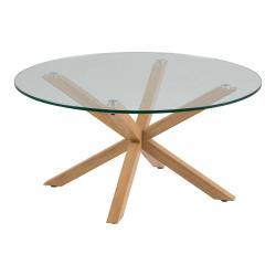 Konferenční stolek se skleněnou deskou Actona Heaven, ⌀82cm