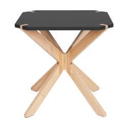Černý odkládací stolek Leitmotiv Mister, 45x45cm
