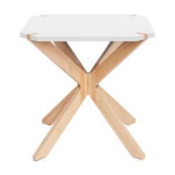 Bílý odkládací stolek Leitmotiv Mister, 45x45cm