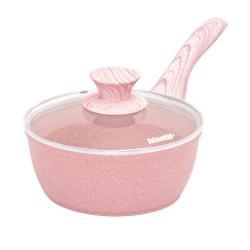 Růžový rendlík s pokličkou Bisetti Stonerose,ø18cm