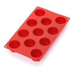 Červená silikonová forma na 11 mini muffinů Lékué