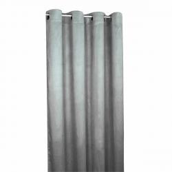 Forbyt Zatemňovací závěs Suedine světle šedá, 140 x 240 cm, sada 2 ks