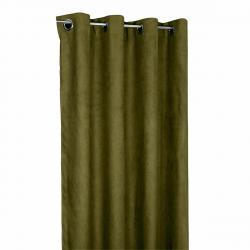 Forbyt Zatemňovací závěs Suedine khaki, 140 x 240 cm, sada 2 ks