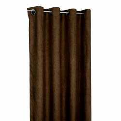 Forbyt Zatemňovací závěs Suedine tmvě hnědá, 140 x 240 cm, sada 2 ks