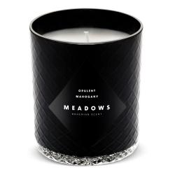 Vonná svíčka Opulent Mahogany medium černá Meadows
