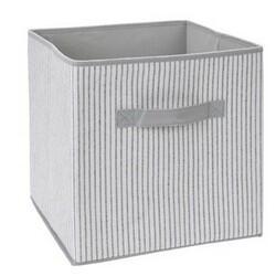 Úložný box 30 x 30 x 30 cm, šedo-bílá