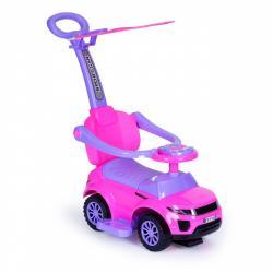MULTISTORE Jezdítko auto 3v1 Super Car růžové