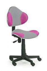 Halmar Kancelářská židle Light šedo-růžová