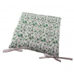 Sedák na židli Zora bílá, 40 x 40 cm