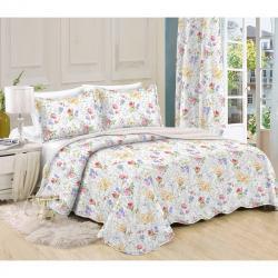 Přehoz na postel Květiny, 140 x 200 cm, 1ks 50 x 70 cm, 140 x 200 cm