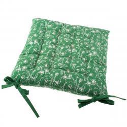 Sedák na židli Zora zelená, 40 x 40 cm