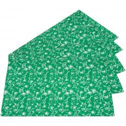 Prostírání Zora zelená, 35  x 48 cm, sada 5 ks