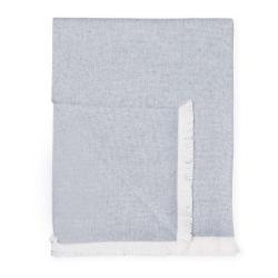 Modrý pléd s podílem bavlny Euromant Summer Linen, 140 x 180 cm