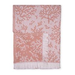 Oranžový pléd s podílem bavlny Euromant Summer Coral, 140 x 180 cm