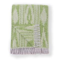 Zelený pléd s podílem bavlny Euromant Zanzibar, 140 x 180 cm