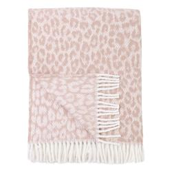 Růžový pléd s podílem bavlny Euromant Leopard, 140 x 180 cm